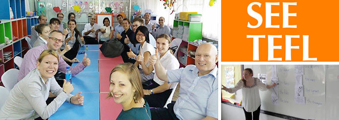 4-week onsite TEFL certification training with guaranteed job